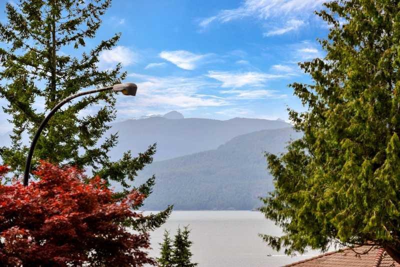 Vistas de la cubierta de Howe Sound.