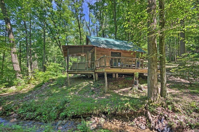Creekside' Cabin w/ Deck in Pisgah Forest!, location de vacances à Barnardsville
