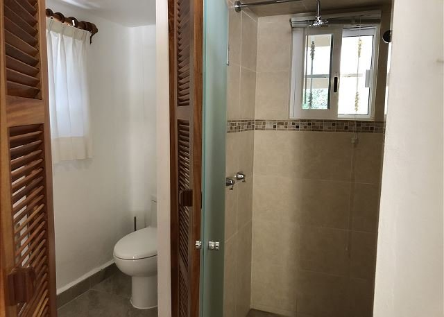 Lower guest casita toilet and shower