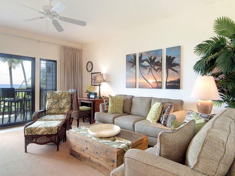 East Kauai Bliss! Pacific Vista+WiFi, DVD, Kitchen, Lanai, Ceiling Fans–Kaha, holiday rental in Wailua