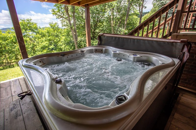 Hottub on lower deck