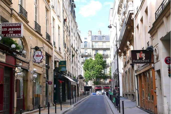 Rue du Dragon in the heart of Saint-Germain on the Left Bank