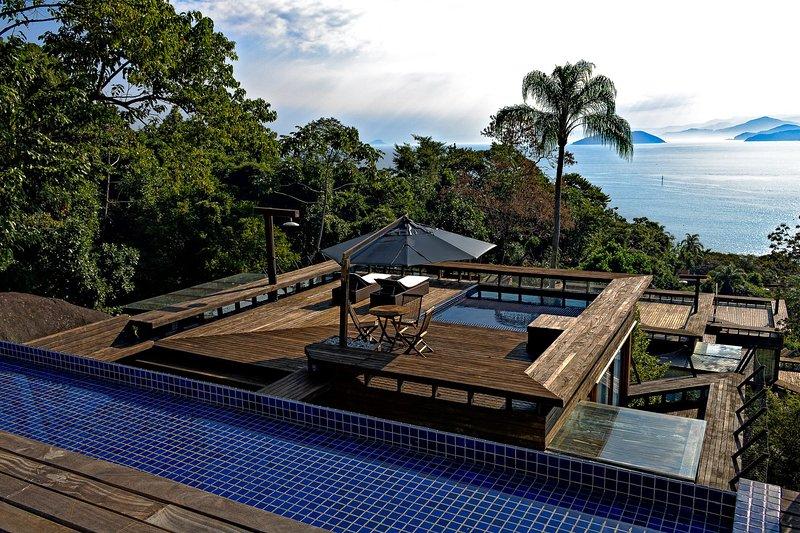 Glass house - Sofisticação e vista panorâmica na Ilhabela, alquiler vacacional en Ilhabela