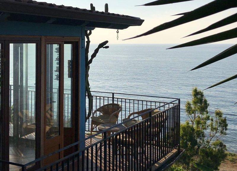 Terrasse de la véranda avec vue sur la mer