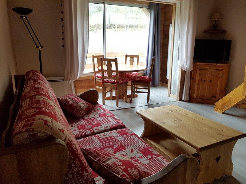 Coquet T2 (duplex) situé entre les stations de ski de Sauze et Super Sauze, location de vacances à Jausiers