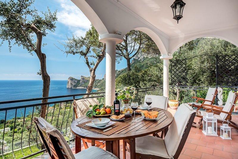 Villa Partenope - Spectacular Sea View, holiday rental in Nerano