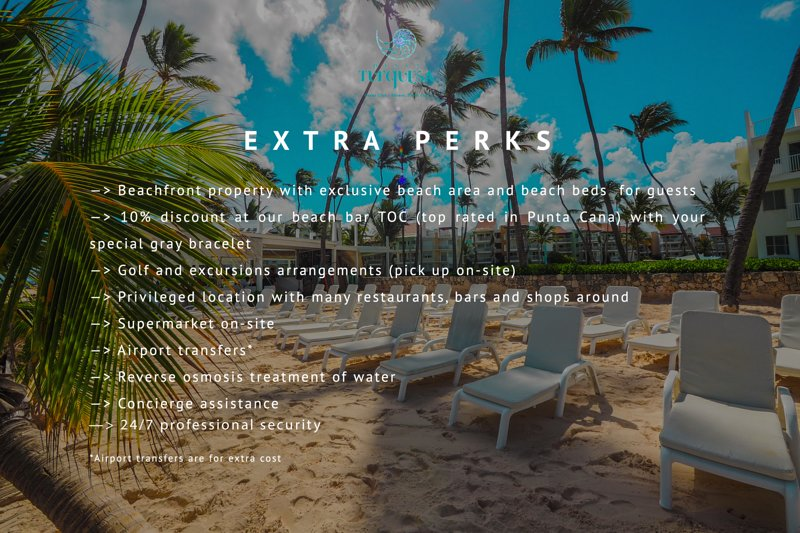 Extra perks for you when you book with us