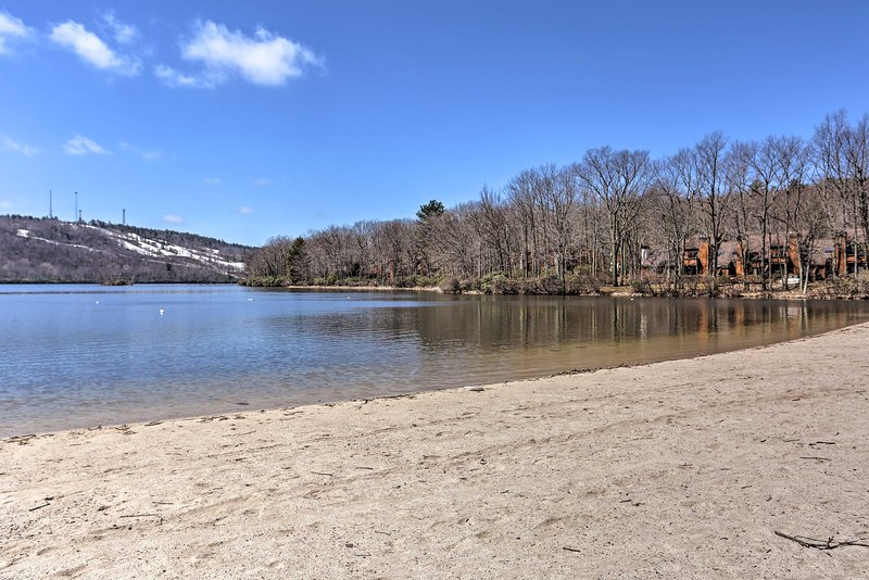 Gain access to the beach at the Boulder Lake Club during your stay.