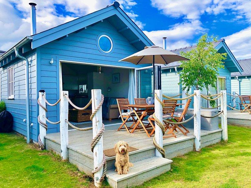 Casa de praia e deck