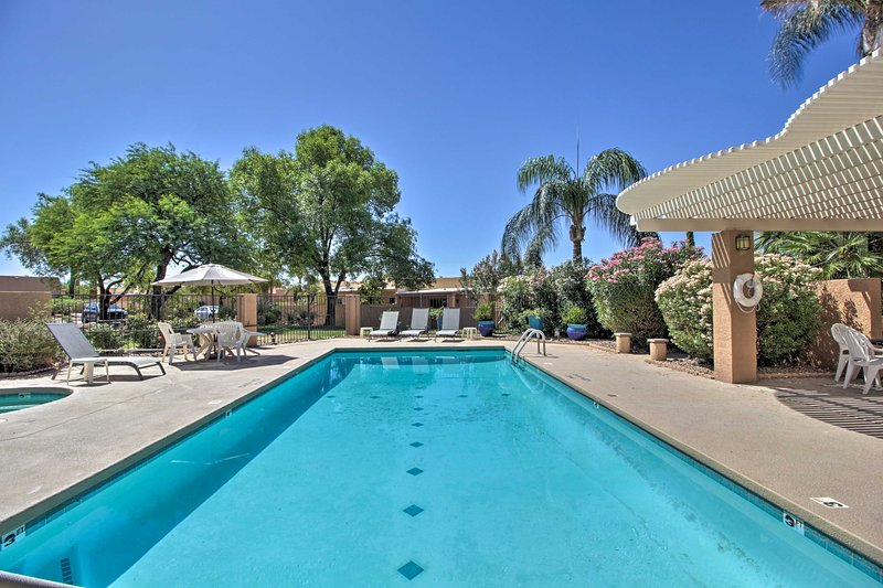 Dive into your next Tuscon getaway at this vacation rental townhome.