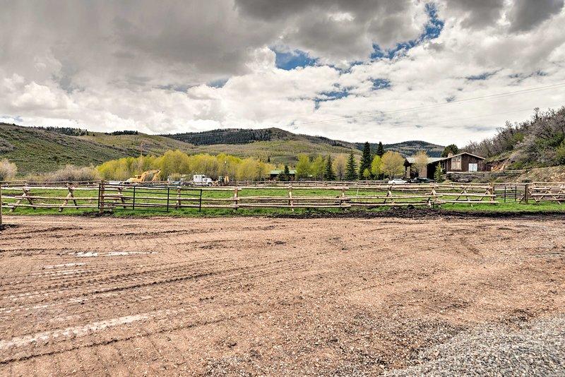 The property boarders a buffalo ranch!
