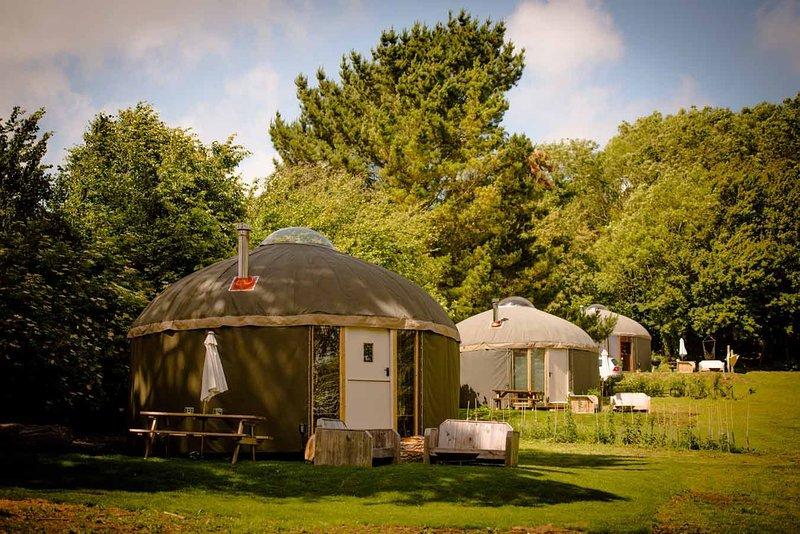 The Garlic Farm Yurts, casa vacanza a Newchurch