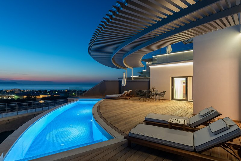 Bliss - 2 Bedroom Sea View Villa with Private Pool | Onira Suite Dreams Crete, holiday rental in Anissaras