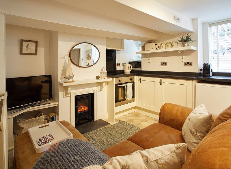 Soggiorno / cucina a pianta aperta - Duck Down Cottage, Whitby