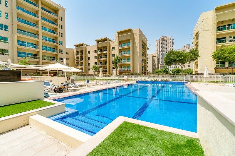 Área de piscina para los residentes de la comunidad.