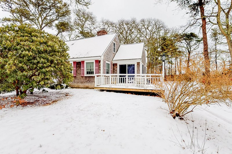 Cozy Cape cottage w/ large backyard, deck & Ping-Pong - near golf/beaches!, holiday rental in South Orleans