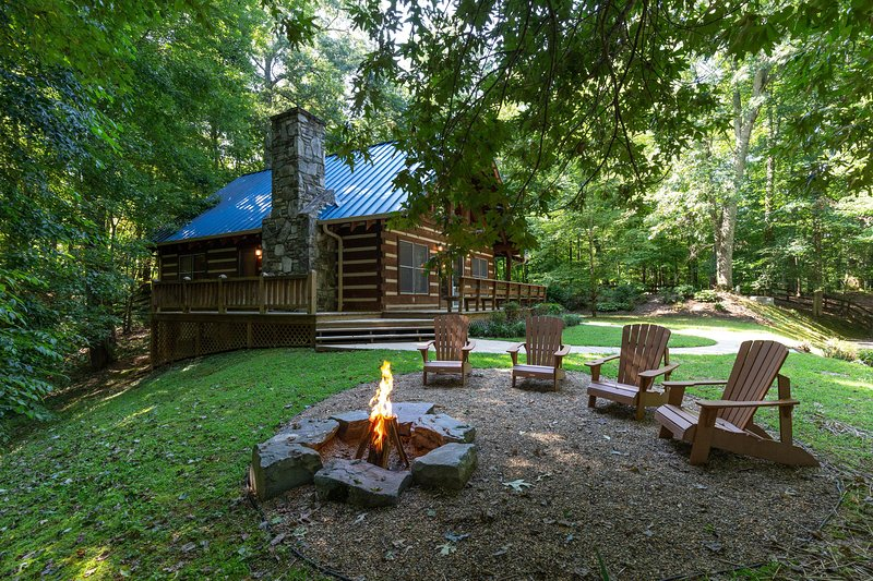 Log Cabin In Private Community With Stone Fireplace Wrap Around Porch Updated 2021 Tripadvisor Cherokee Vacation Rental