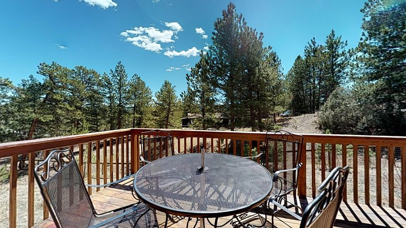 Dog-friendly, mountain view home w/ a full kitchen, deck and private grill, holiday rental in Estes Park