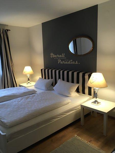 Außergewöhnliche Wohnung mit 105 qm - 2 Schlafzimmer - 5 Betten - in Toplage, vacation rental in Neunkirchen