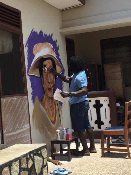 Peinture du propriétaire de la maison.