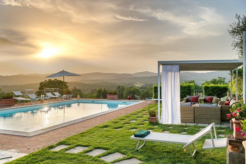 Luxury villa Merlini, casa vacanza a Monastero d'Ombrone