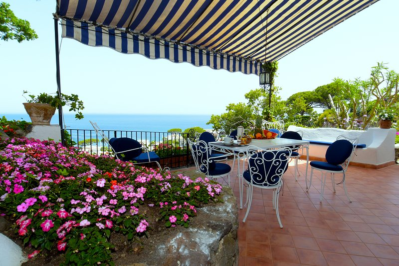 Main terrace, the perfect place to relax in quiet enjoying seaview and sunset.