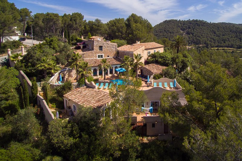 the whole property at Masia Nur Sitges, vacation rental in Canyelles