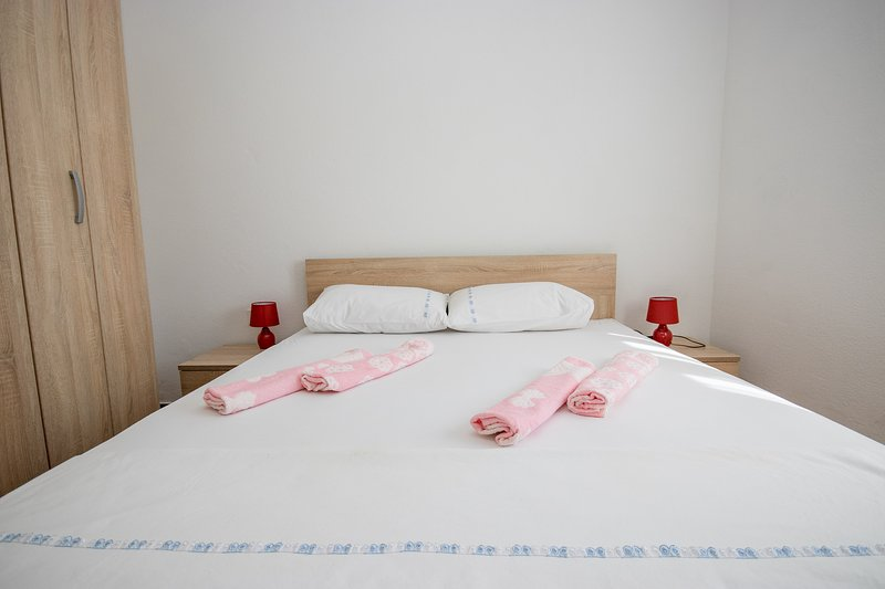 Bedroom one - double bed + single sofa bed
