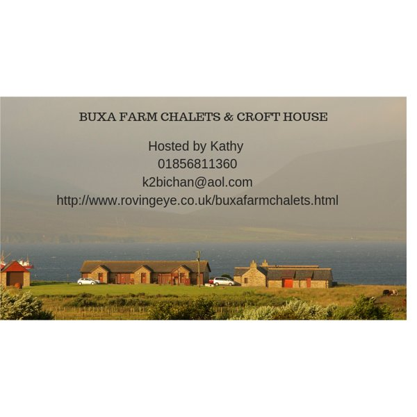 Buxa Farm Chalets in Orphir on the waterfront, holiday rental in Birsay