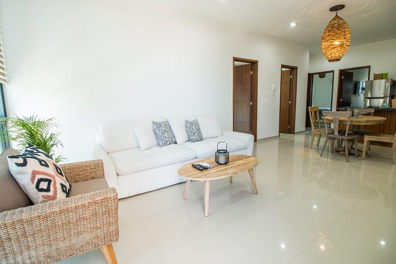 Amplio Departamento Boho en zona Exclusiva, alquiler de vacaciones en Mazatlán
