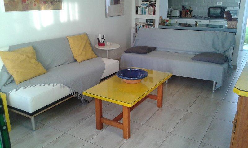 Nuovo soggiorno di stile: due comodi divani-letto grandi comodi clic-clac!