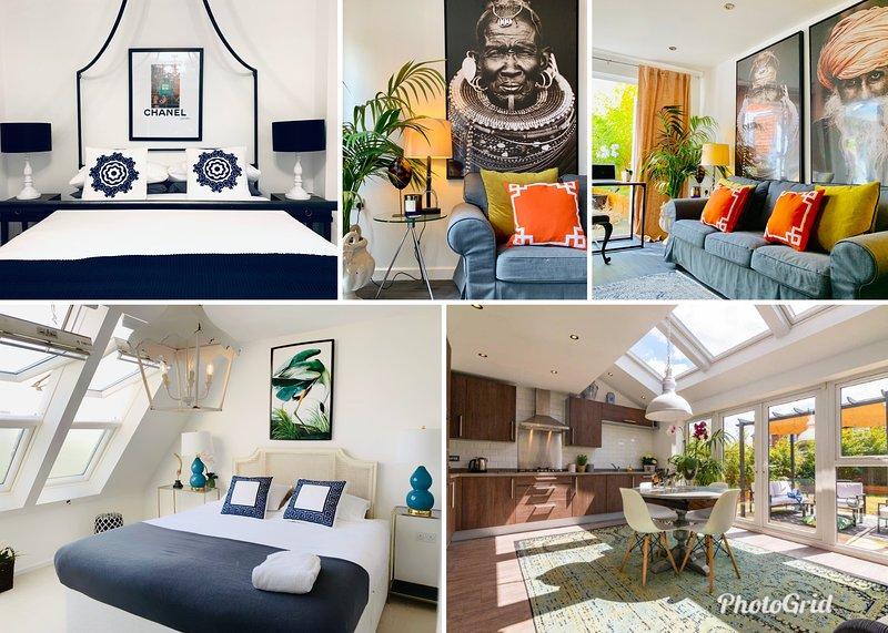 Stylish large 5BR house walking distance from MCR centre near Arena w. Parking, location de vacances à Manchester