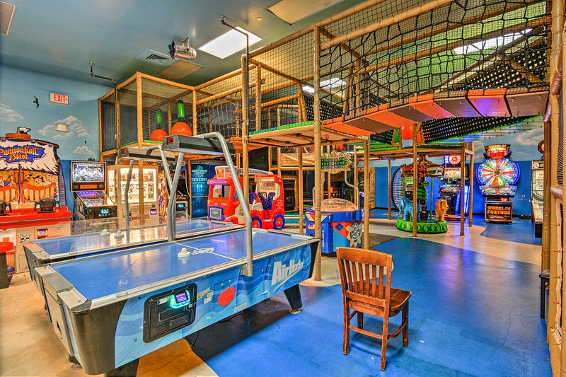 The kids will spend hours and hours in the arcade.