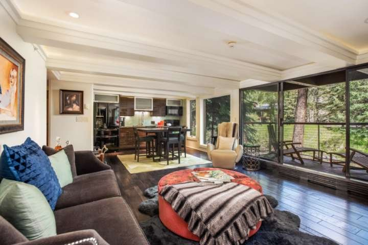 Aspen Rental With Stylish Finishes.  Balcony With River View.  Wood FP, Hot Tub, Chalet in Aspen