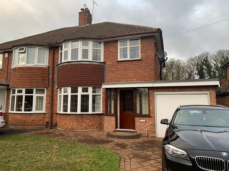 Home from large four bedroom house with private drive.