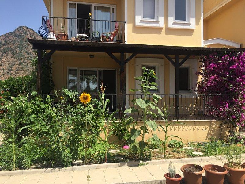 Apartment with swimming pool in village, holiday rental in Koycegiz
