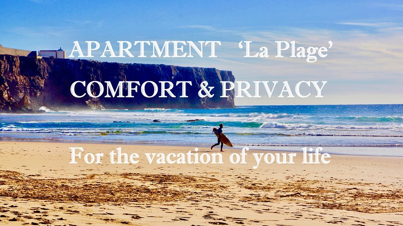 Apartment 'La Plage' Sl.3 Sea view WiFi/Smart TV, Privacy, location de vacances à Sagres