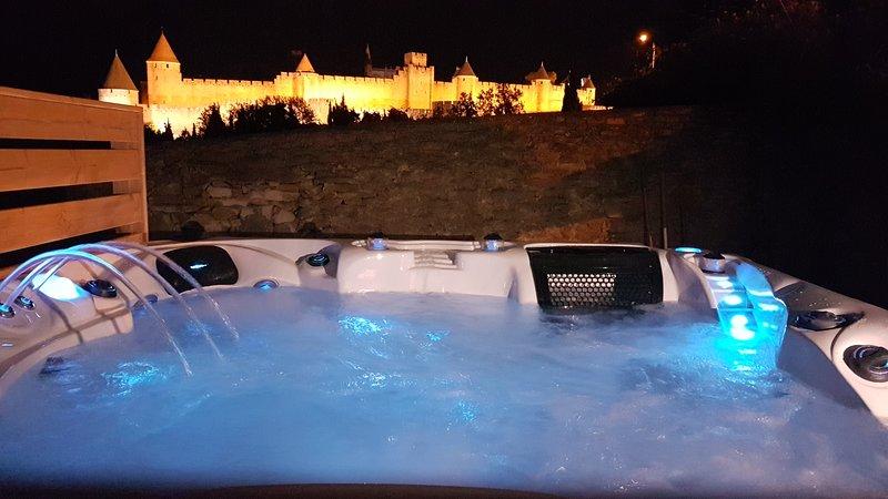 L'écrin de la Cité Carcassonne : Villa de luxe avec piscine chauffée, 2 jacuzzis, vacation rental in Carcassonne Center