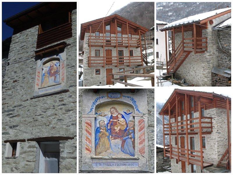 Ca 'Malenca con su fresco histórico