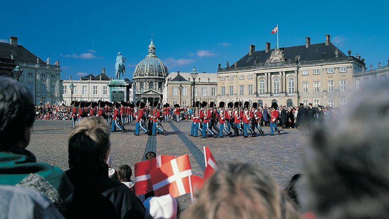 Palazzo Amalienborg - dove vive la regina