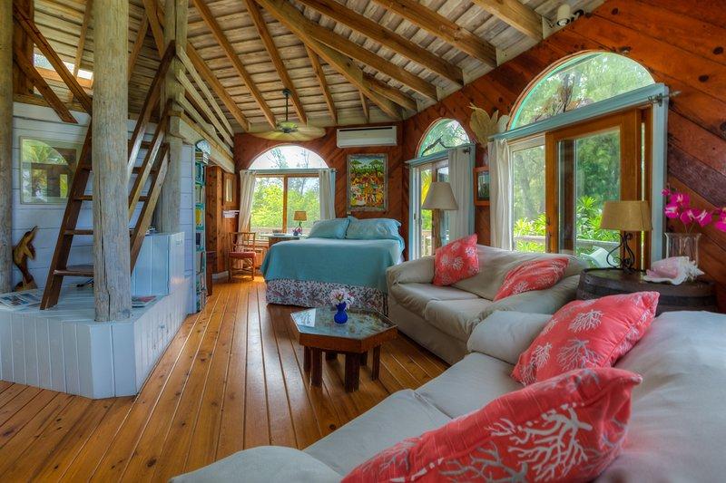 Interior da casa redonda