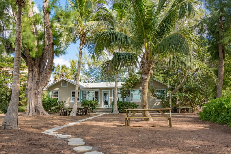 The backyard at Shady Palms...one step to the beach...sure to be your favorite spot!
