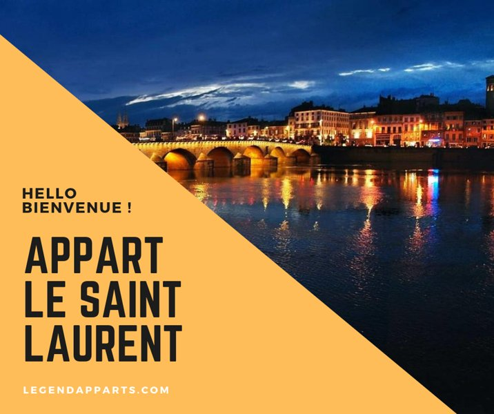 ★ LE SAINT LAURENT LEGEND ★ Parking ★ Wifi★ 24/7, holiday rental in Chaintre