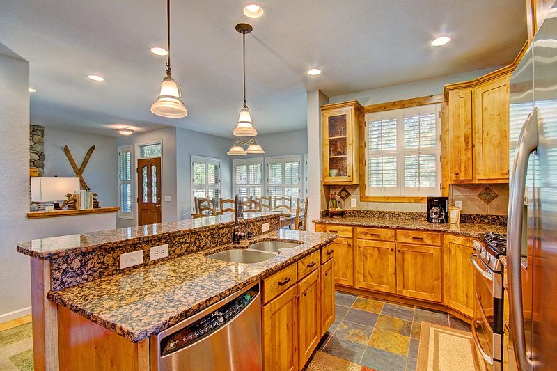 Fully equipped kitchen updated with modern appliances