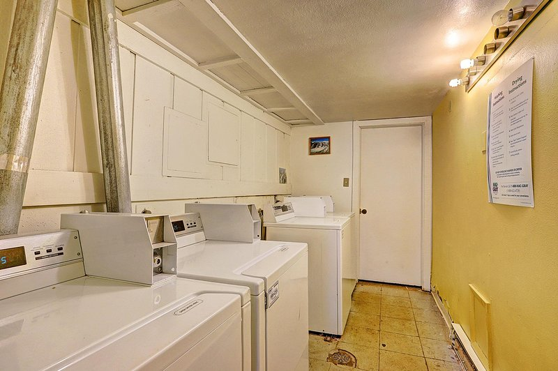 Shared laundry facilities available on site