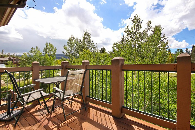 Enjoy fresh Rocky Mountain air on your private deck
