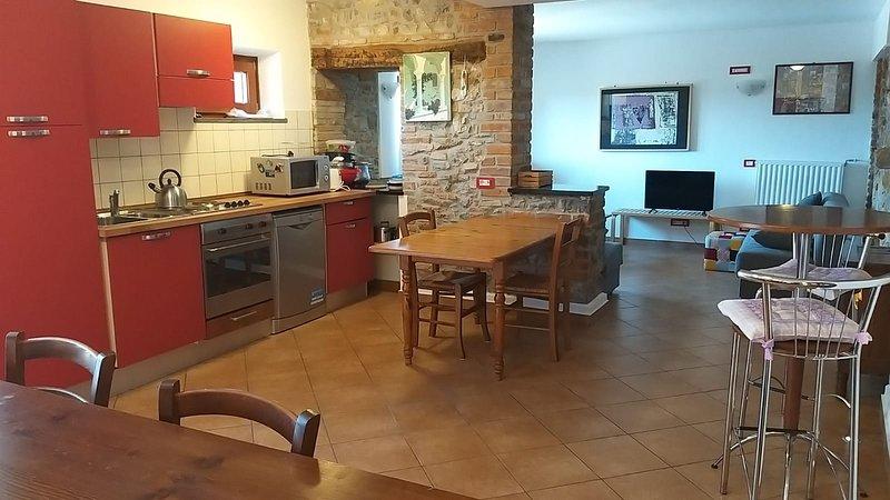 Gran villa en el parque de Villa Rubini - cocina y sala de estar