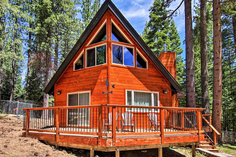 Soak in the hot tub during your stay at this home in South Lake Tahoe!