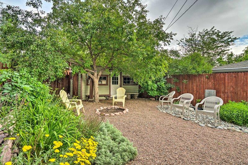 Take advantage of the backyard on those clear, sunny Colorado days.