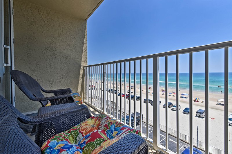 This vacation rental studio for 4 is located at Pirate's Cove right by the beach